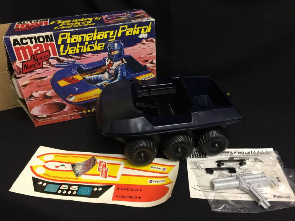 VINTAGE ACTION MAN - SPACE RANGER - PLANETARY PATROL VEHICLE BOXED MINT UNUSED old shop stock ...